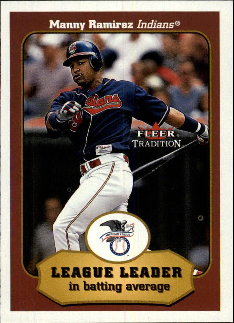 2001 Fleer Tradition #389 Manny Ramirez LL