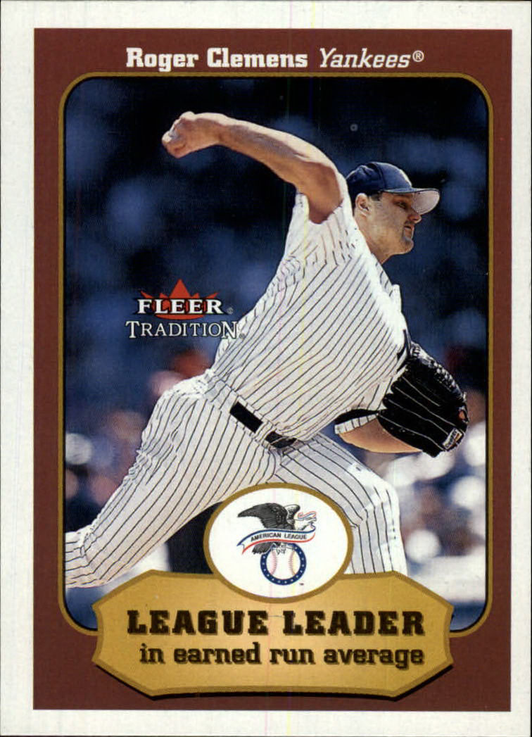 2001 Fleer Tradition #407 Roger Clemens LL
