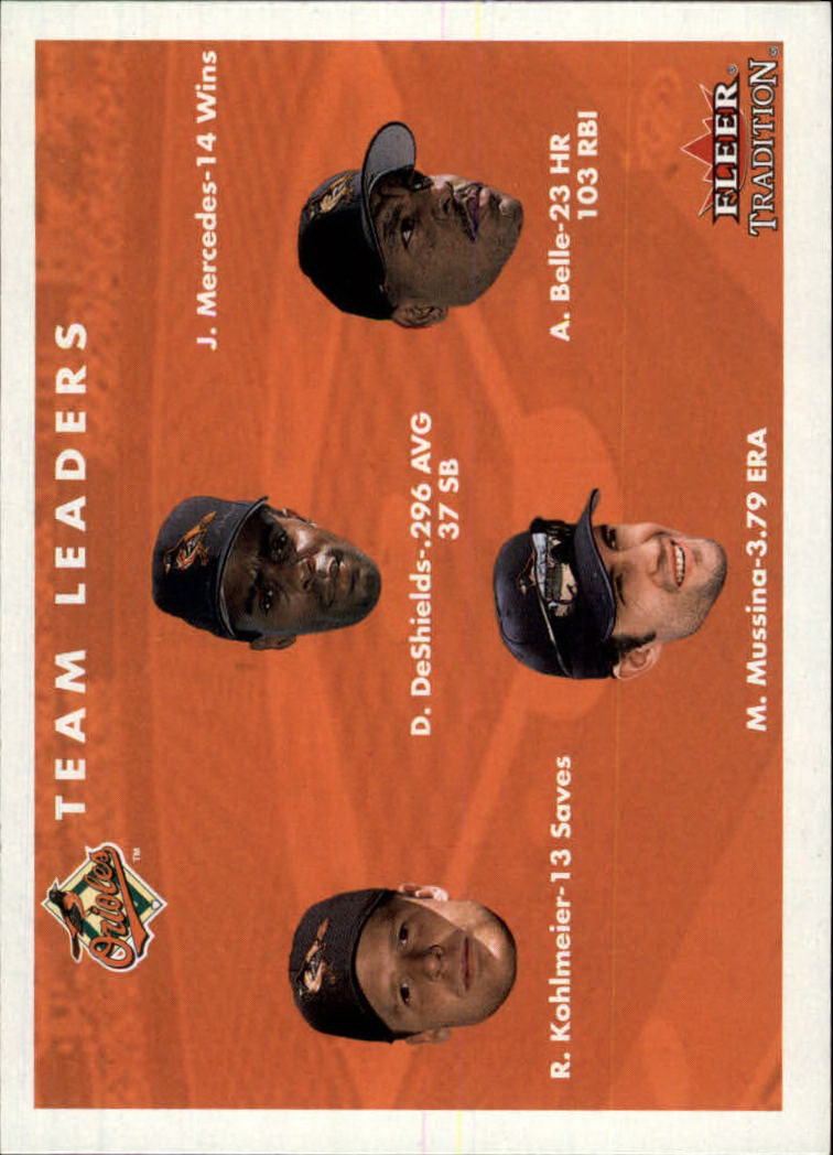 2001 Fleer Tradition #439 Baltimore Orioles CL