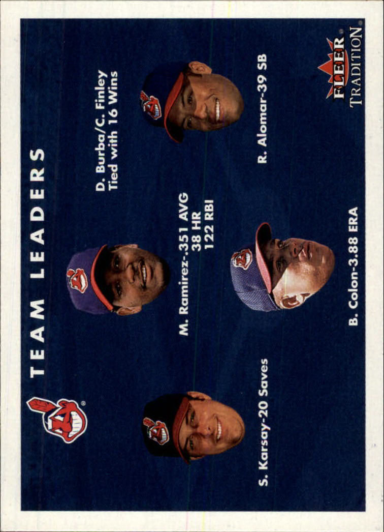 2001 Fleer Tradition #443 Cleveland Indians CL