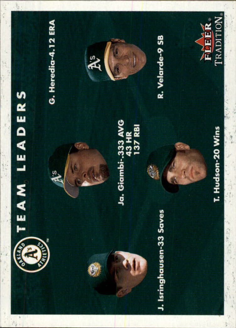 2001 Fleer Tradition #448 Oakland Athletics CL