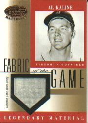 2001 Leaf Certified Materials Fabric of the Game #6BA Al Kaline SP