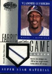 2001 Leaf Certified Materials Fabric of the Game #42CR Vladimir Guerrero/322