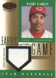 2001 Leaf Certified Materials Fabric of the Game #76BA Barry Larkin