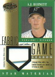2001 Leaf Certified Materials Fabric of the Game #84SN A.J. Burnett/57