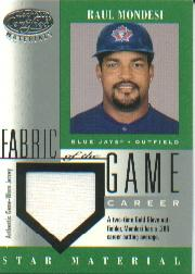 2001 Leaf Certified Materials Fabric of the Game #109CR Raul Mondesi/286