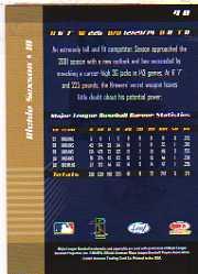 2001 Leaf Limited #40 Richie Sexson back image