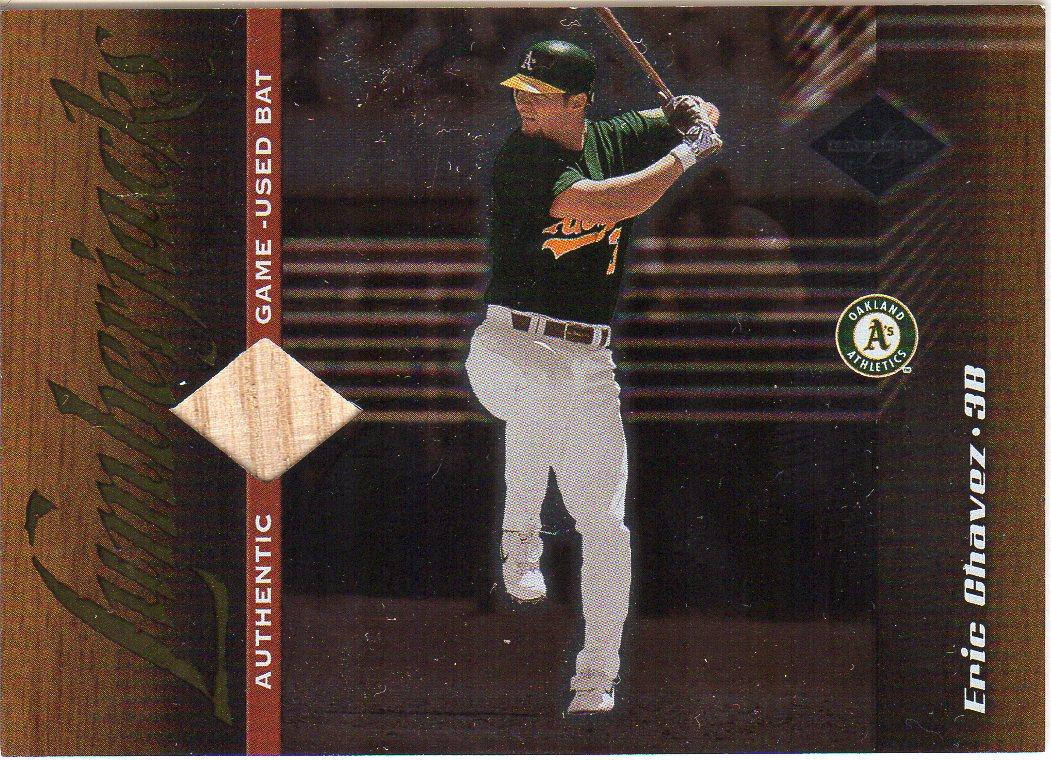 2001 Leaf Limited #166 Eric Chavez LUM/500