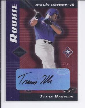 2001 Leaf Limited #304 Travis Hafner AU RC