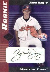 2001 Leaf Limited #310 Zach Day AU/750 RC