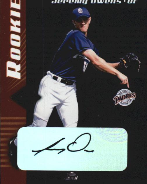 2001 Leaf Limited #311 Jeremy Owens AU RC