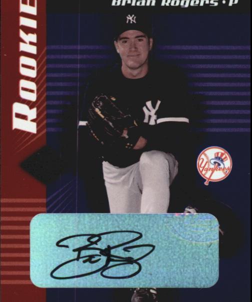 2001 Leaf Limited #316 Brian Rogers AU RC