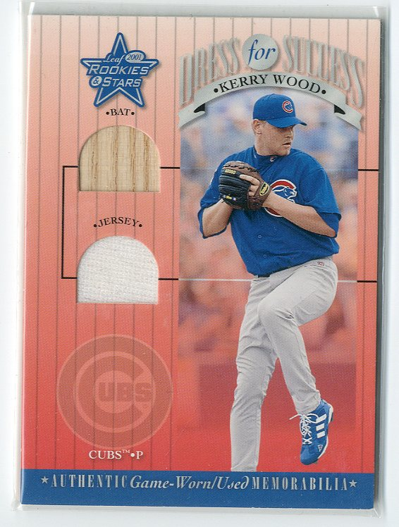 2001 Leaf Rookies and Stars Dress for Success #DFS17 Kerry Wood SP