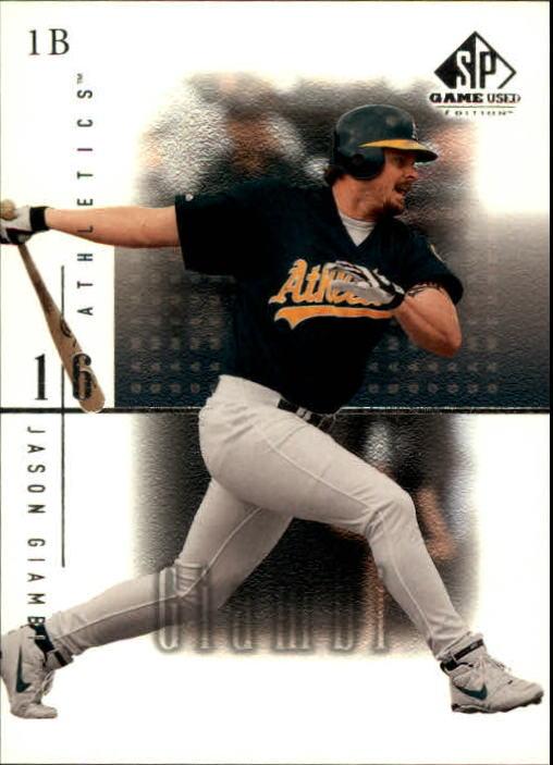2001 SP Game Used Edition #4 Jason Giambi