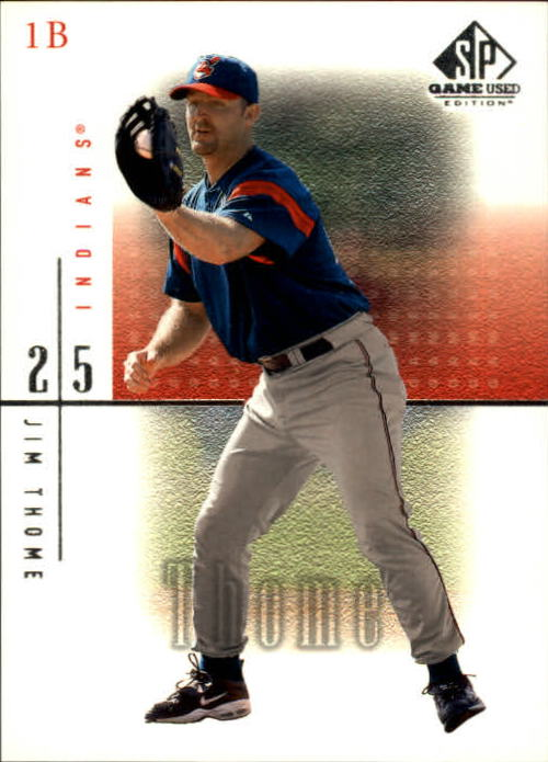 2001 SP Game Used Edition #11 Jim Thome
