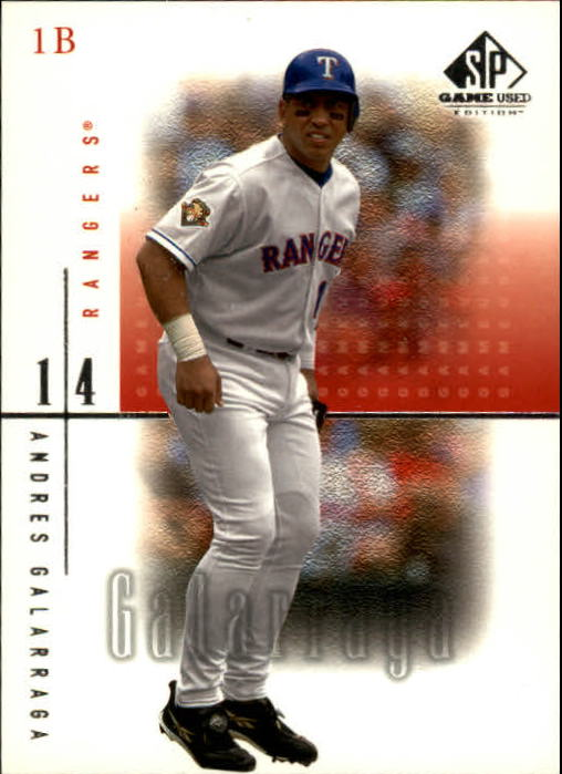 2001 SP Game Used Edition #14 Andres Galarraga