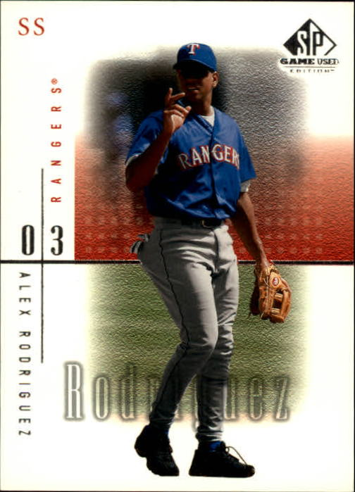 2001 SP Game Used Edition #15 Alex Rodriguez