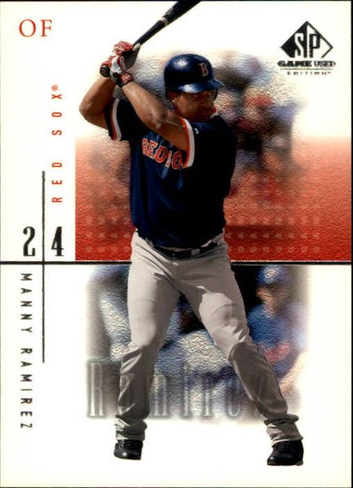 2001 SP Game Used Edition #18 Manny Ramirez Sox