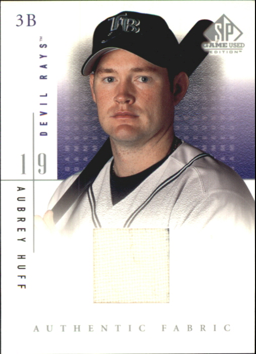 2001 SP Game Used Edition Authentic Fabric #AH Aubrey Huff