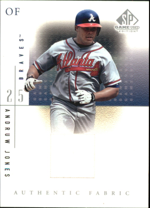2001 SP Game Used Edition Authentic Fabric #AJ Andruw Jones