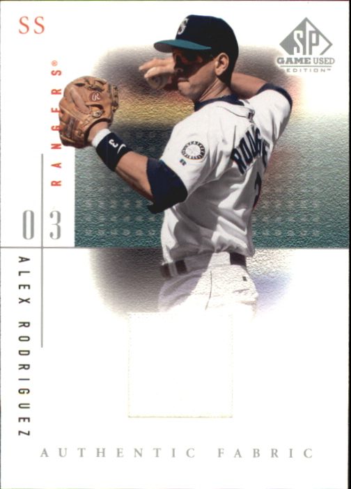 2001 SP Game Used Edition Authentic Fabric #ARH Alex Rodriguez Rangers