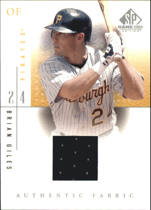 2001 SP Game Used Edition Authentic Fabric #BG Brian Giles SP