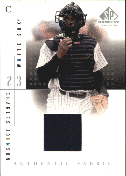 2001 SP Game Used Edition Authentic Fabric #CJO Charles Johnson
