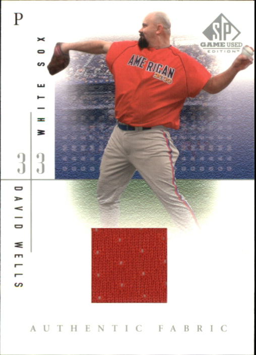 2001 SP Game Used Edition Authentic Fabric #DW David Wells SP