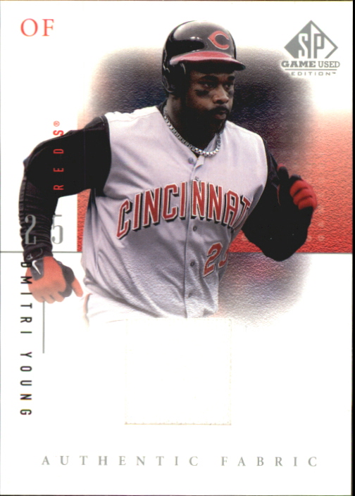 2001 SP Game Used Edition Authentic Fabric #DY Dmitri Young