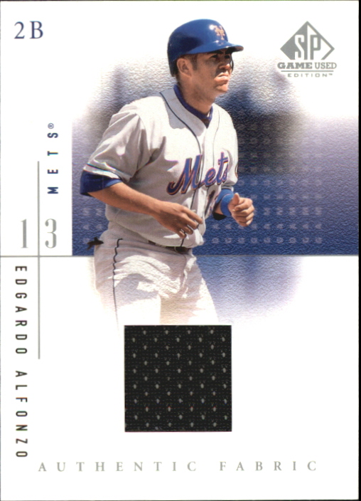 2001 SP Game Used Edition Authentic Fabric #EA Edgardo Alfonzo