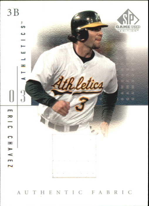 2001 SP Game Used Edition Authentic Fabric #EC Eric Chavez