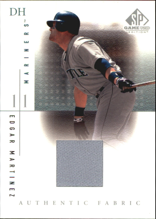2001 SP Game Used Edition Authentic Fabric #EM Edgar Martinez DP