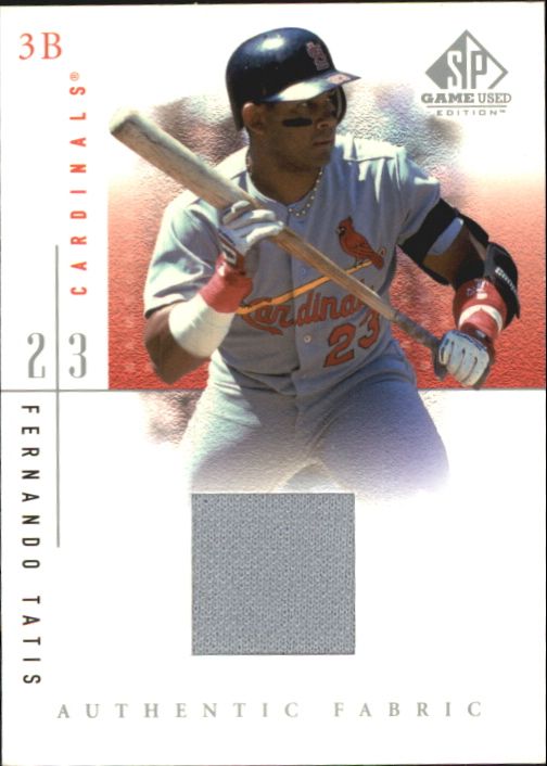 2001 SP Game Used Edition Authentic Fabric #FTA Fernando Tatis