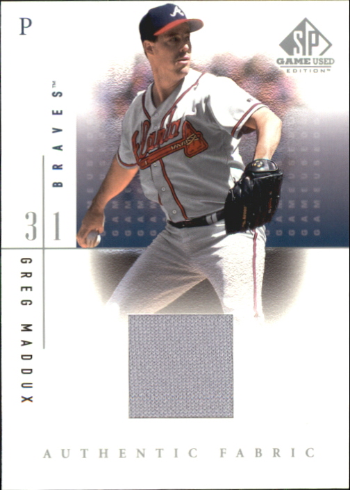 2001 SP Game Used Edition Authentic Fabric #GM Greg Maddux DP