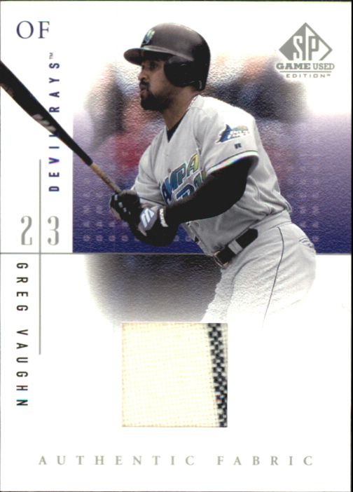 2001 SP Game Used Edition Authentic Fabric #GV Greg Vaughn