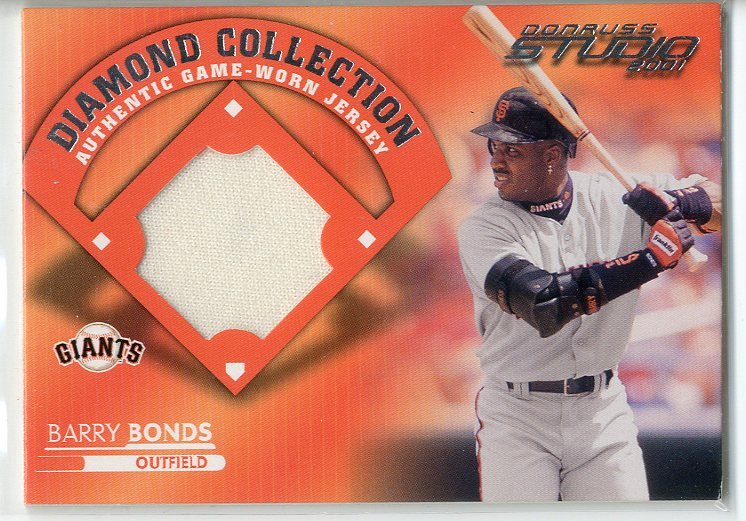 2001 Studio Diamond Collection #DC2 Barry Bonds