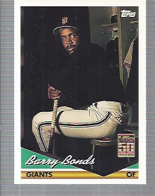 2001 Topps Through the Years Reprints #45 Barry Bonds '94