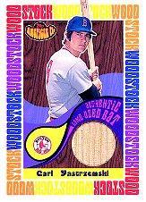 2001 Topps American Pie Woodstock Relics #BBWMCY Carl Yastrzemski Bat