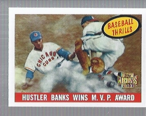 2001 Topps Archives #213 Ernie Banks 59 Thrill