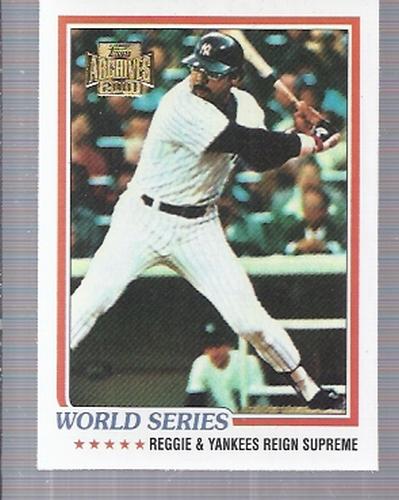 2001 Topps Archives #225 Reggie Jackson WS 78