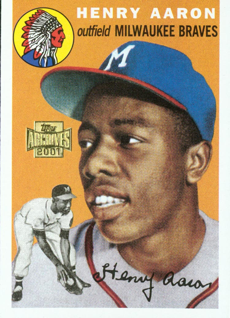 2001 Topps Archives #244 Hank Aaron 54