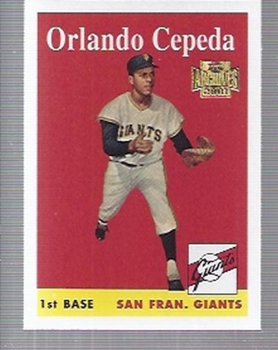 2001 Topps Archives #253 Orlando Cepeda 58