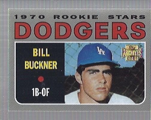 2001 Topps Archives #285 Bill Buckner 70