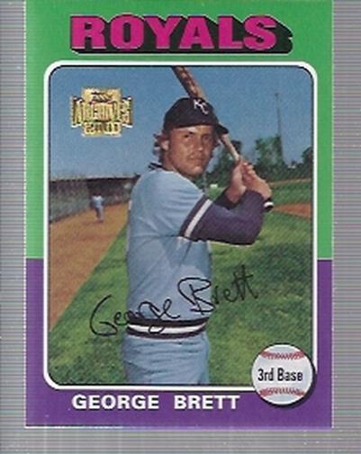 2001 Topps Archives #296 George Brett 75