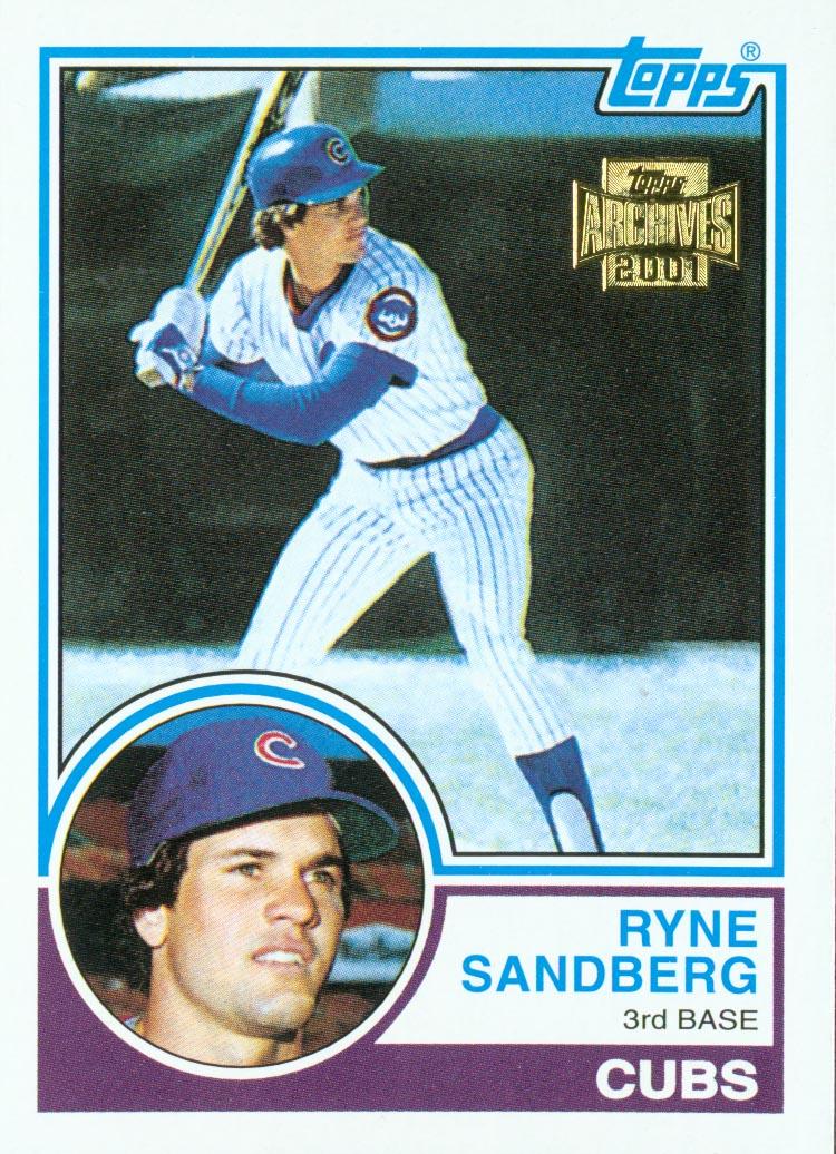 2001 Topps Archives #308 Ryne Sandberg 83