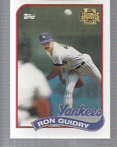 2001 Topps Archives #401 Ron Guidry 89