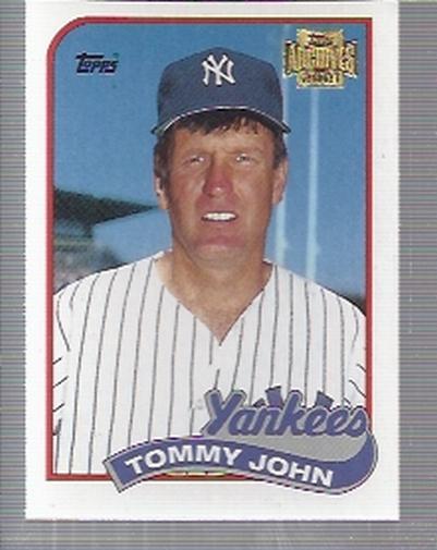 2001 Topps Archives #403 Tommy John 89
