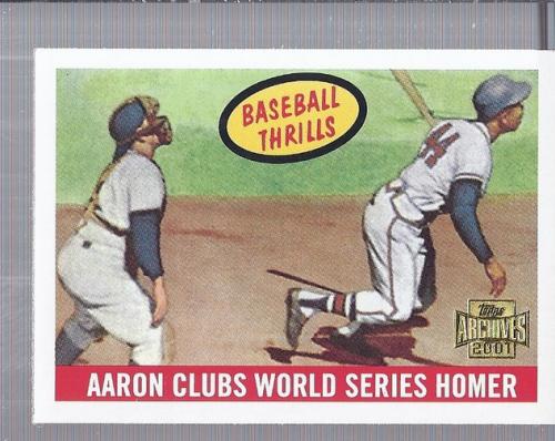 2001 Topps Archives #447 Hank Aaron WS 59