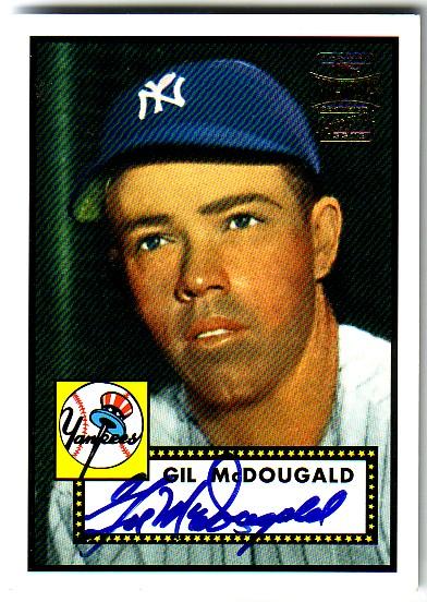 2001 Topps Archives Autographs #TAA17 Gil McDougald E1