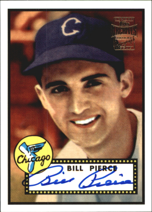 2001 Topps Archives Autographs #TAA20 Billy Pierce E2